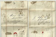 1831  RED BROMPTON CDS ON LONDON 2 LETTERS TO G KEEN SOLICITOR IN STAFFORD