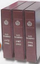 Raccoglitore per monete San Marino 1972 2001 3 volumi
