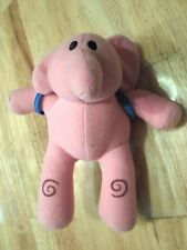 "POCOYO ELLA Pink Elephant Ban Dai 7"" Plush Soft Toy Stuffed Animal"