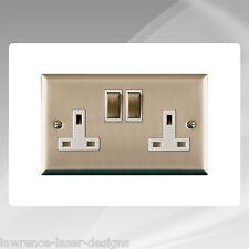 Double Electric Plug Socket Surround,Gloss White - FREE UK POSTAGE