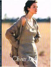 PUBLICITE ADVERTISING   1997   OLIVIER STRELLI    HAUTE COUTURE PAR  NADIR