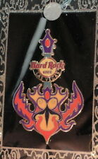Hard Rock Cafe LAS VEGAS STRIP 2012 DAGGER GUITAR w/FLAMES PIN on CARD HRC#65847