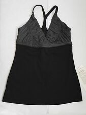NEW LULULEMON black and gray Pure Balance Tank yoga top size 6 NWT *RARE*