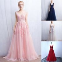 Long Evening Formal Party Dress Prom Ball Gown Bridesmaid Backless New
