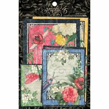 Graphic 45 G45 Flutter 4x6 and 3x4 Journaling and Ephemera Cards