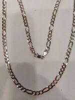 Halskette Mann Mod. Kette 3+1 50CM, N Silber 925,Neu mit Garantie, Gr. 10