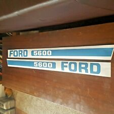 Ford 5600 Tractor Hood Decals Partial Kit S8418 Blue Brand New