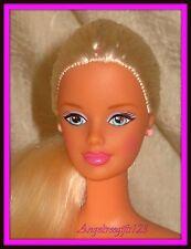 Nude princess Barbie floor length blonde hair Mackie face sculpt for ooak