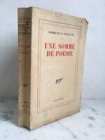 Patrice de La Talla Pin Una Sum De Poesía NRF Gallimard 1946