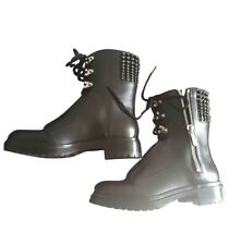 "Sergio Rossi ""Rockstar"" Combat Boots, Size 37, US 7"