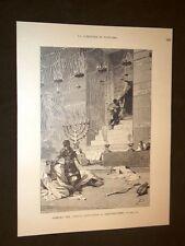 Storia di Roma Pompeo Sancta Sanctorum a Gerusalemme Incisione di L. Pogliaghi