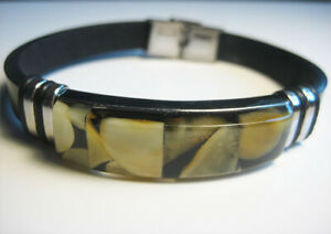 Genuine Amber Stylish Baltic Amber men's Bracelet !!!