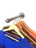 "Industrial 12"" Pipe Wall Rack Clothing Rack, Closet Organization, Retail Display"