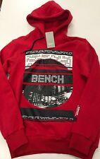 Bench 'My City My Hood' Red Sweatshirt Hoodie small S NEW