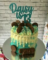 Custom Cake Topper 13th Birthday Any Name/Word or Colour Personalised Customised