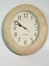 Westclox Wall Clock - Clean. Light Tan Color. Stone Effect