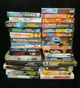 Job Lot of 30 James Patterson Novels - Hardback & Paperback Books