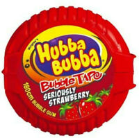 Hubba Bubba Bubble Gum Tape Strawberry 56g Party Favours Candy Buffet Bulk Lolly