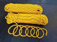 Seil Polypropilen, Bootsleine, Leine,  gelb, 14 mm, 30 Meter, Tauwerk und Fender