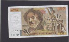 france 100 francs e delacroix 1981 L.51
