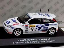 FORD FOCUS WRC #17 DELECOUR MONTE CARLO 2001 SKID SKM195 1/43