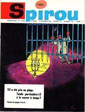▬► Spirou Hebdo - n°1483 du 15 Septembre 1966 - SANS mini-récit TBE