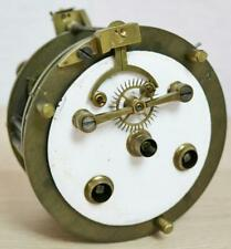 More details for antique french 8 day striking visible escapement mantel clock movement - spares