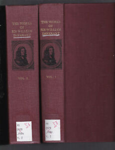 The Works of Sir William Davenant, First Pub. London 1673, 1968 facs., ill.