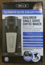 New Bella Dual Brew Single-Serve Coffee Maker- k-cup compatible