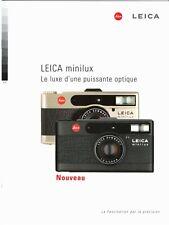 LEICA MINILUX _ Catalogue luxueux pour ce remarquable compact _ 1996