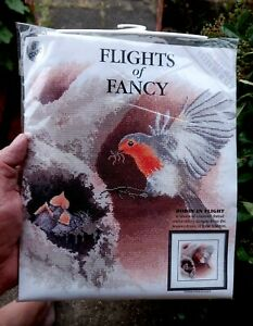 Heritage Stitchcraft Counted Cross Stitch - Flights Of Fancy - Robins In Flight