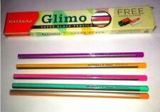 10x Nataraj GLIMO SUPER BLACK Pencil |free 1 sharpener + 1 eraser | home school