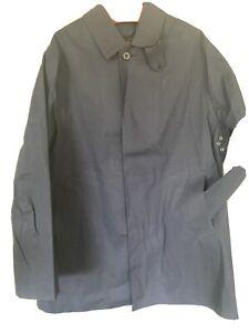 Mackintosh Iconic Oxford Navy Bonded Cotton Coat