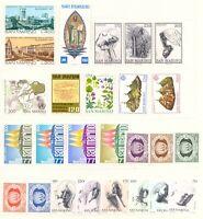 1977 San Marino Annata Completa Nuovi Come Unificato 26 Valori Integri