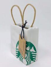 Starbucks Christmas Ceramic Bag Ornament 2018 Edition, NEW!
