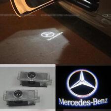 2x Ghost LED Door Courtesy Laser Light Mercedes-Benz 01-07 C-Class SLK White