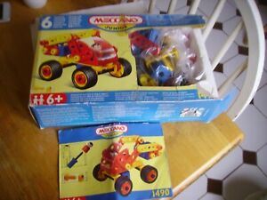 Vintage Meccano Junior plastic construction kit with instructions from 1990s