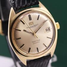 1960's IWC INTERNATIONAL WATCH Co. YACHT CLUB 18K GOLD AUTOMATIC MEN'S WATCH
