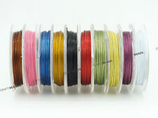 0.38mm Tiger Tail Nylon Coated Steel Beading Wire 27 Gauge - Assorted 10 Spools