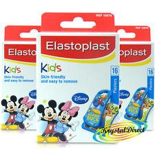 3x Elastoplast Disney Mickey Mouse 16 assortiti Cerotti per bambini-pelle amichevole