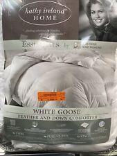kathy ireland white goose feather and down comforter King Size