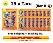 Lot of 15 Taro Fish Snack Bar-B-Q Flavor  Thailand 25 g Healthy No Fat Halal
