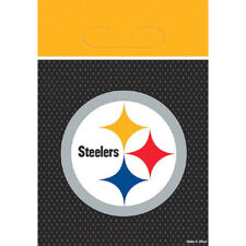 NFL PITTSBURGH STEELERS FAVOR BAGS (8) ~ Birthday Party Supplies Treat Loot