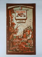 Red Lobster Seafood Fish Family Restaurant Menu 1970s Food Nautical Decor Vtg !!