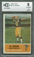 1962 fleer #57 AL DOROW new york titans BGS BCCG 8