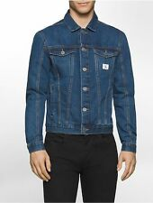 Calvin Klein Jeans trucker Blue denim jean jacket Size XXL 2XL Men Medium Wash