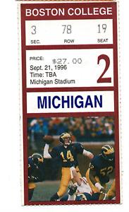 Tom Brady University of Michigan Football Appearance Ticket! RARE! 10888