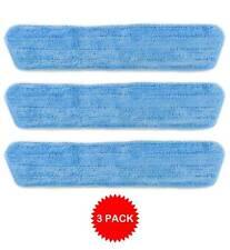 3 Blue Microfiber Dust Mop Pads Refill Fits Starfiber, Bona, Libman, Scoth-Brite