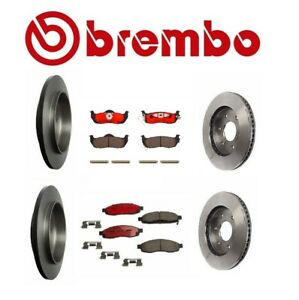 Brembo Front Rear Brake Full Kit Rotors & Pads for Nissan Pathfinder Armada 2004