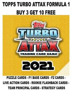 TOPPS TURBO ATTAX F1 FORMULA 1 2021  - BASE CARDS #1 - #203 BUY 3 GET 10 FREE